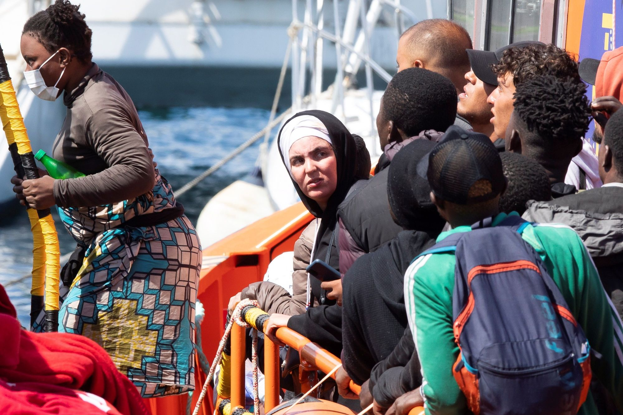 Llegada de migrantes a Gran Canaria