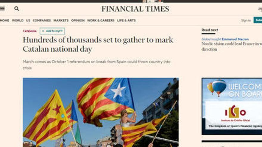 Què diu la premsa internacional sobre la Diada?