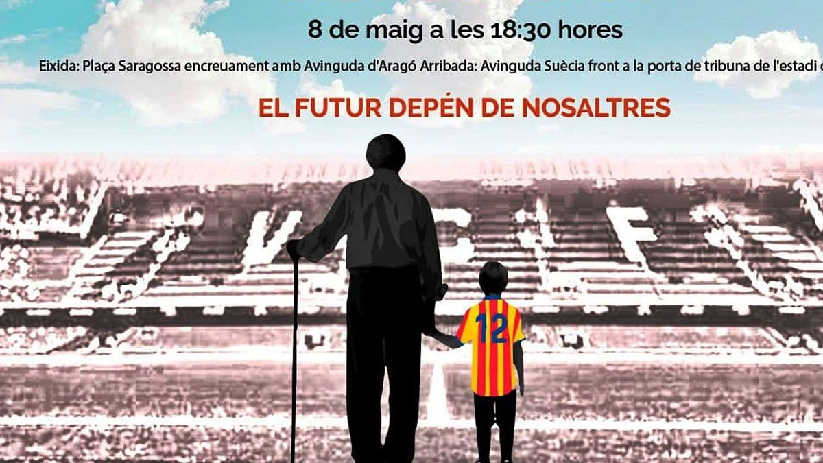 Cartel de la manifestación que se celebrará el sábado contra la gestión de Meriton en el Valencia CF.  | LIBERTAD VALENCIA CF