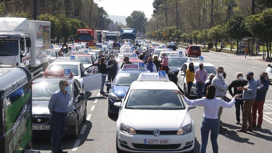 Marcha de las autoescuelas cordobesas contra los exámenes CAPA