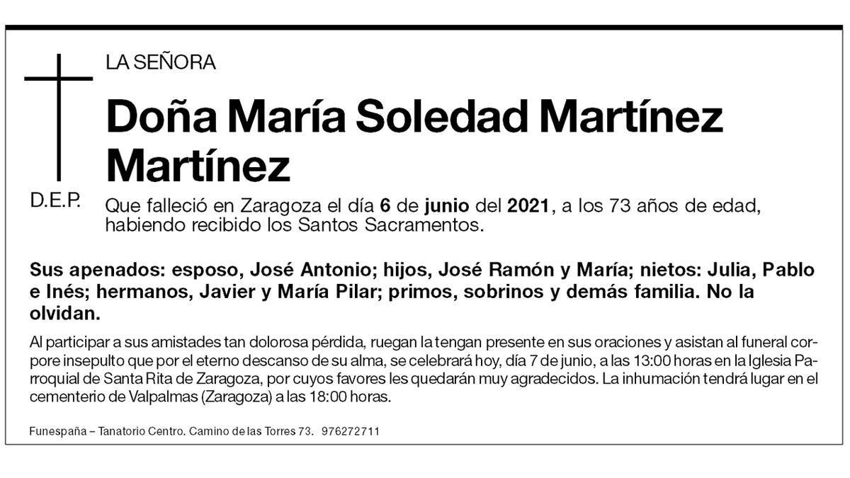 María Soledad Martínez Martínez