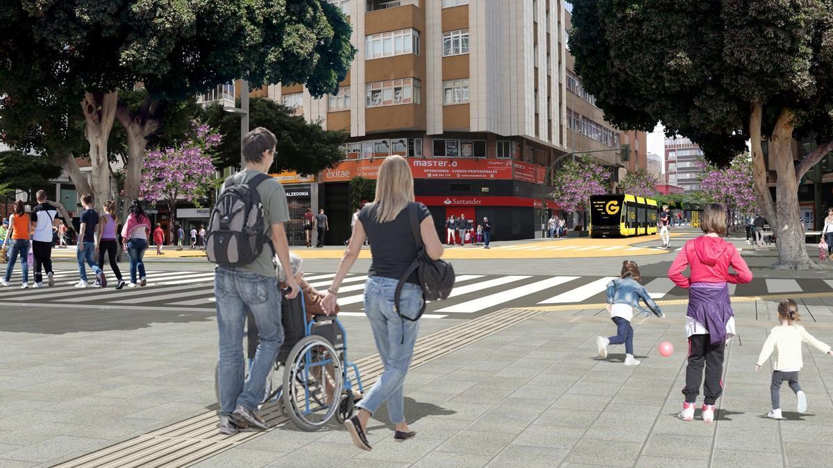 Infografía que muestra cómo será la futura calle Galicia