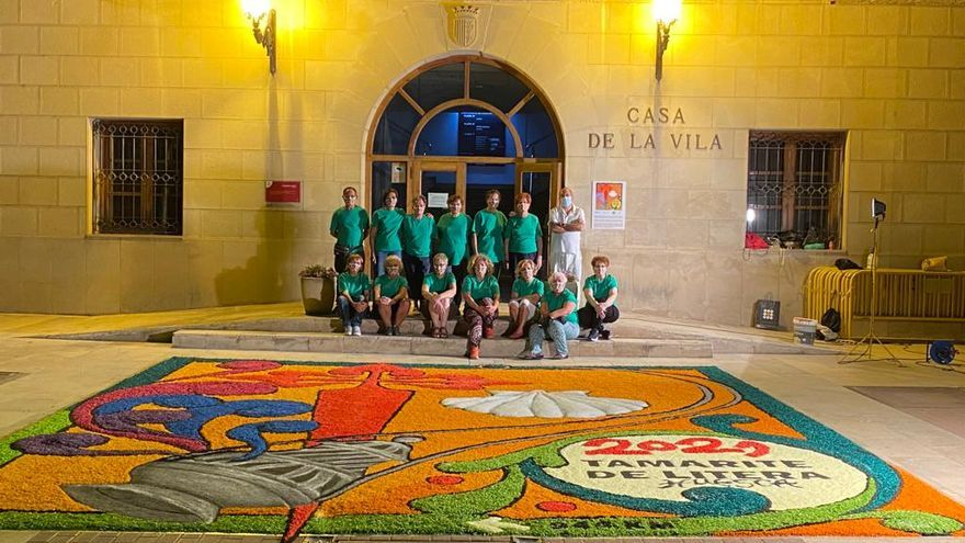 Tamarite de Litera exhibe la Alfombra Mundial del Jacobeo