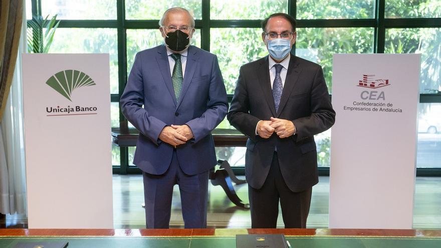 Unicaja Banco renueva su acuerdo con la CEA y habilita una línea de financiación de 1.000 millones para las empresas andaluzas