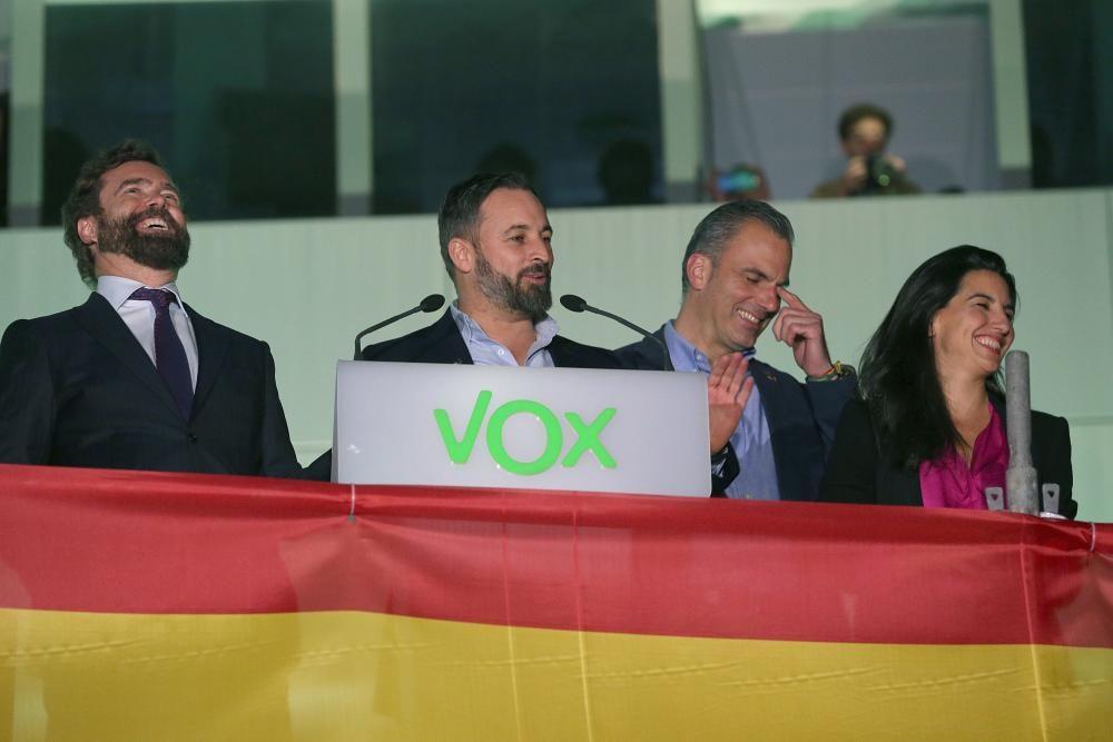 Sede de Vox para el seguimiento de resultados