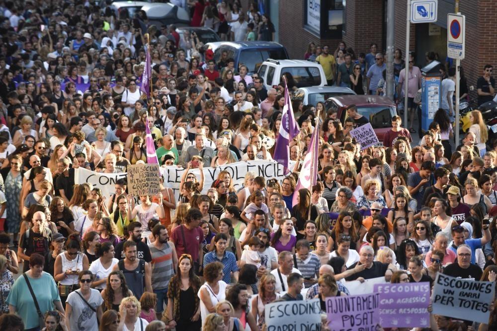 Manifestació a Manresa en contra de la violació d'