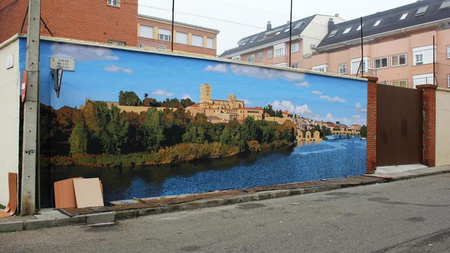 Nuevo mural en el barrio de Pinilla.