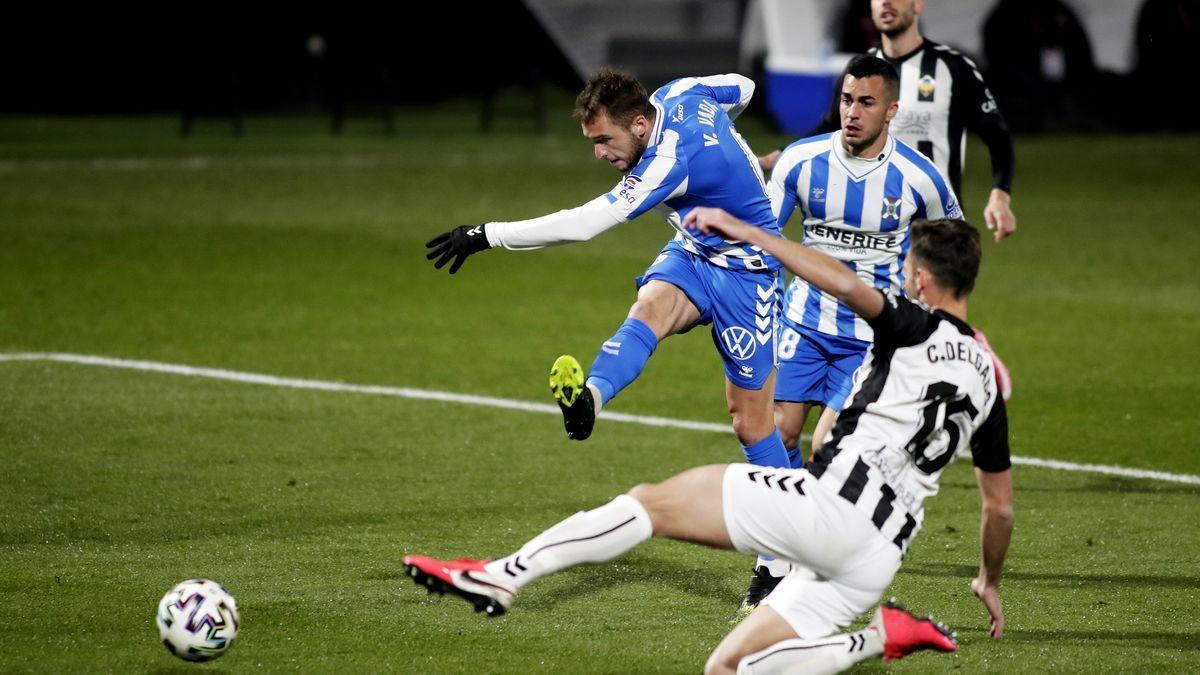 Valentín Vada, en la jugada del gol frente al Castellón.