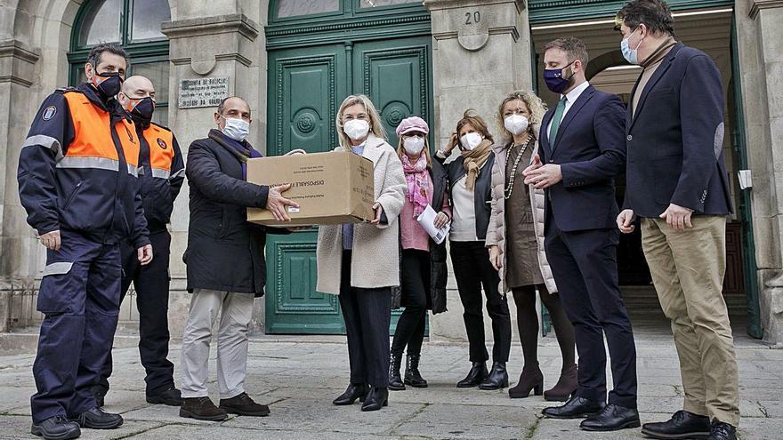 Los institutos reciben 20.000 mascarillas