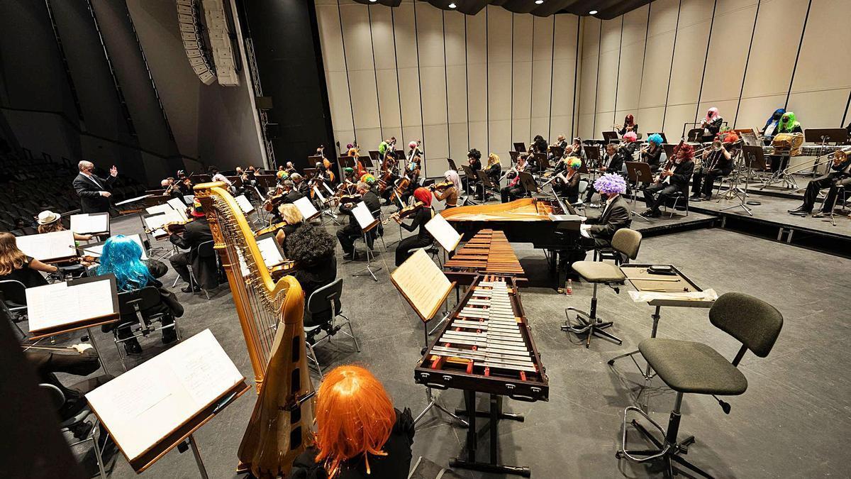 Un detalle del concierto de homenaje al Carnaval de la Sinfónica.