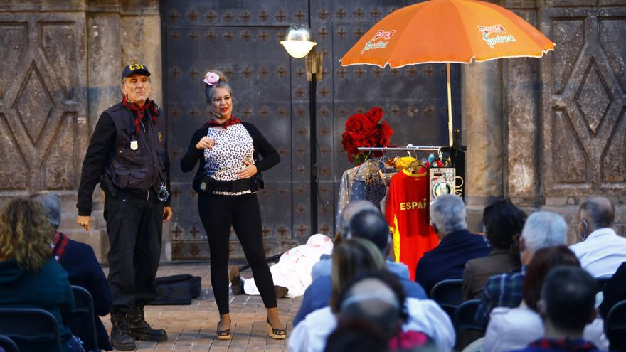 Jaime Ocaña transforma la plaza del Justicia de Zaragoza en el escenario de un crimen