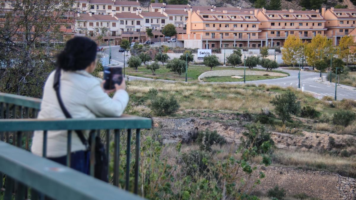La fallida urbanización de Serelles desde el lugar donde está previsto construir el puente de acceso.