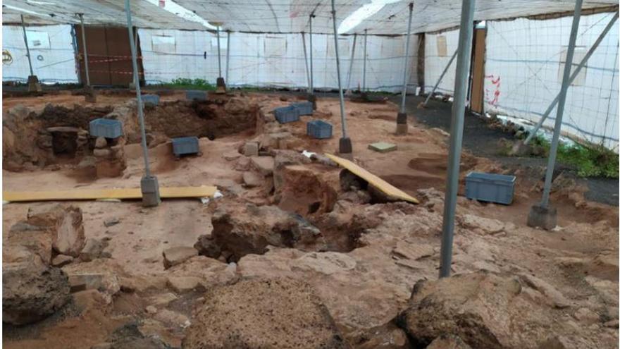 El yacimiento arqueológico de Zonzamas, en riesgo de desaparecer