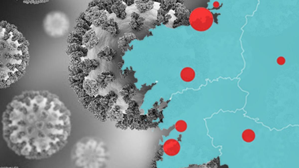 El mapa y la evolución del coronavirus en Galicia