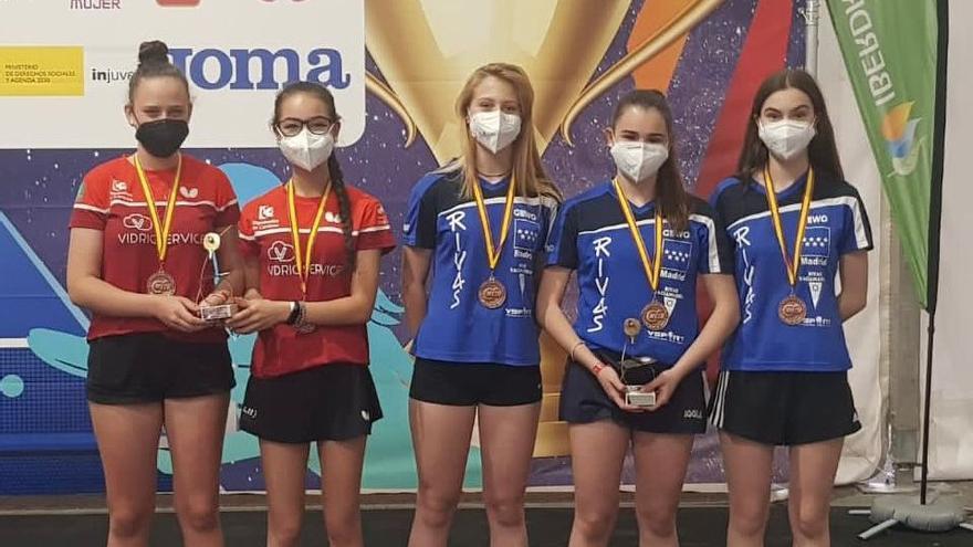 Tres bronces para el Vidrioservice Priego en el Campeonato de España juvenil