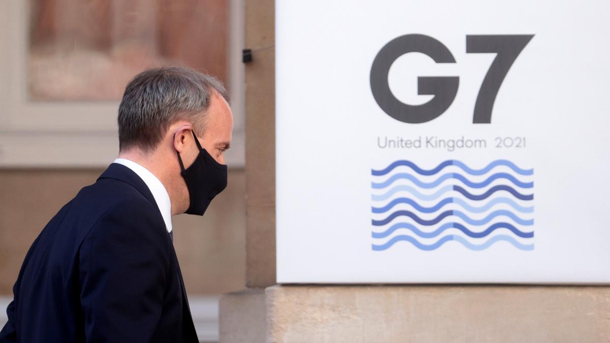 El ministro de Exteriores británico llega a la reunión del G7