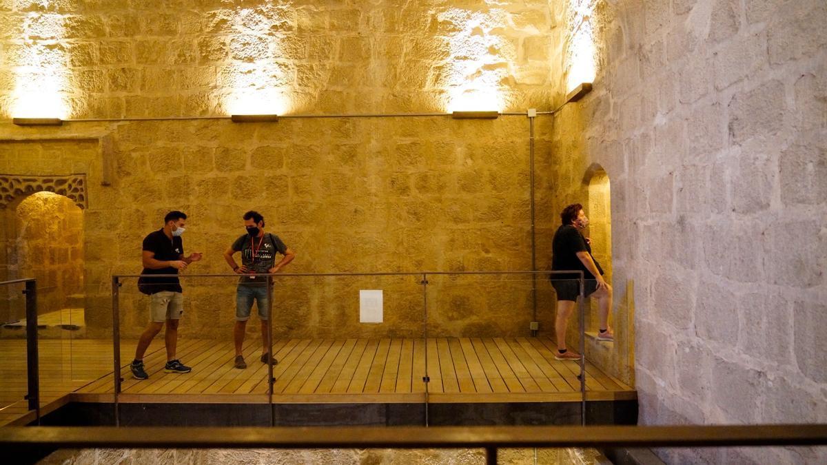 Imagen del interior del castillo de Belalcázar.