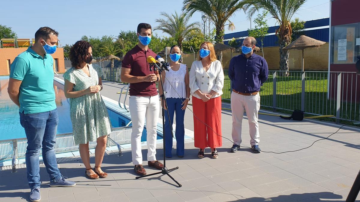 Presentación del campeonato andaluz de verano de natación máster.