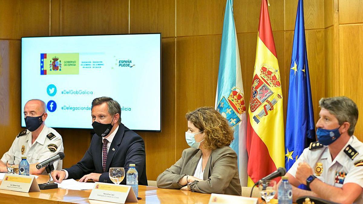 Balseiro, Miñones, Rivas y Agudo, ayer, durante la rueda de prensa.     // M. DYLAN/ EUROPA PRESS