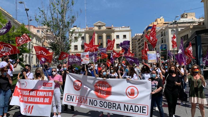 Protesta de los trabajadores de H&M en Alicante