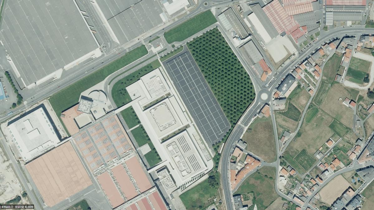 Vista aérea de Inditex