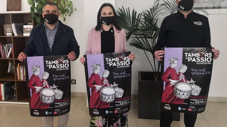 Almassora celebrará la Rompida de la Hora de Tambors de Passió con un protocolo anticovid