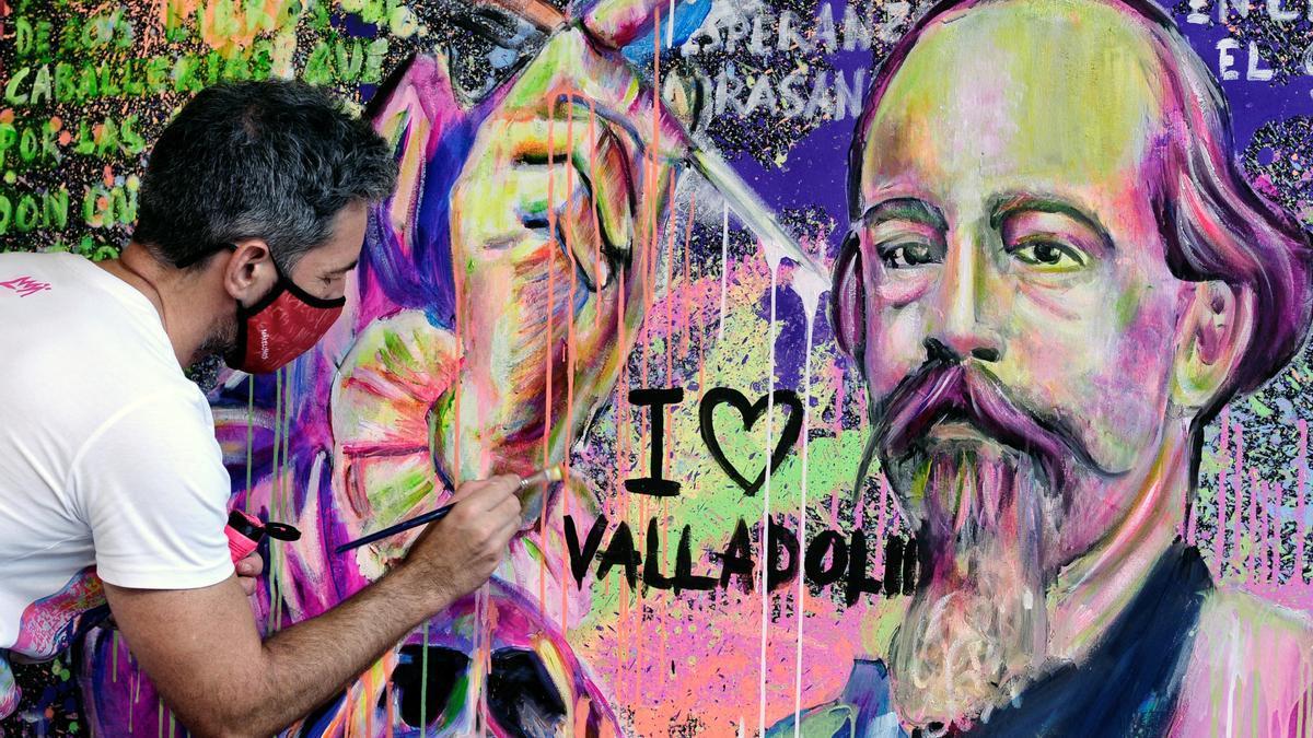 René Makela y su nueva obra, en Valladolid.