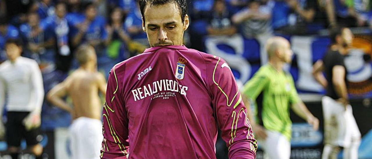 Orlando Quintana, durante un partido con el Oviedo. | LNE