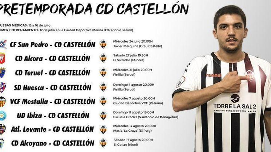 Teruel e Ibiza completan los amistosos del Castellón en pretemporada