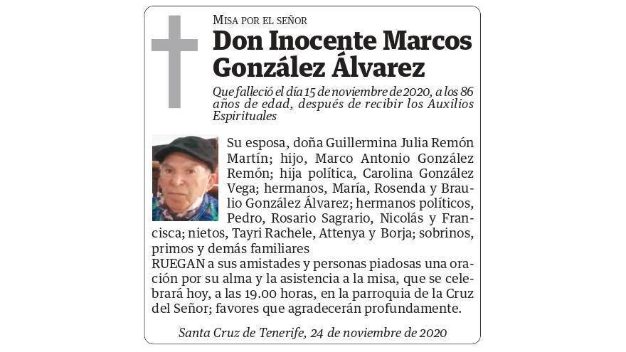 Inocente Marcos González Álvarez