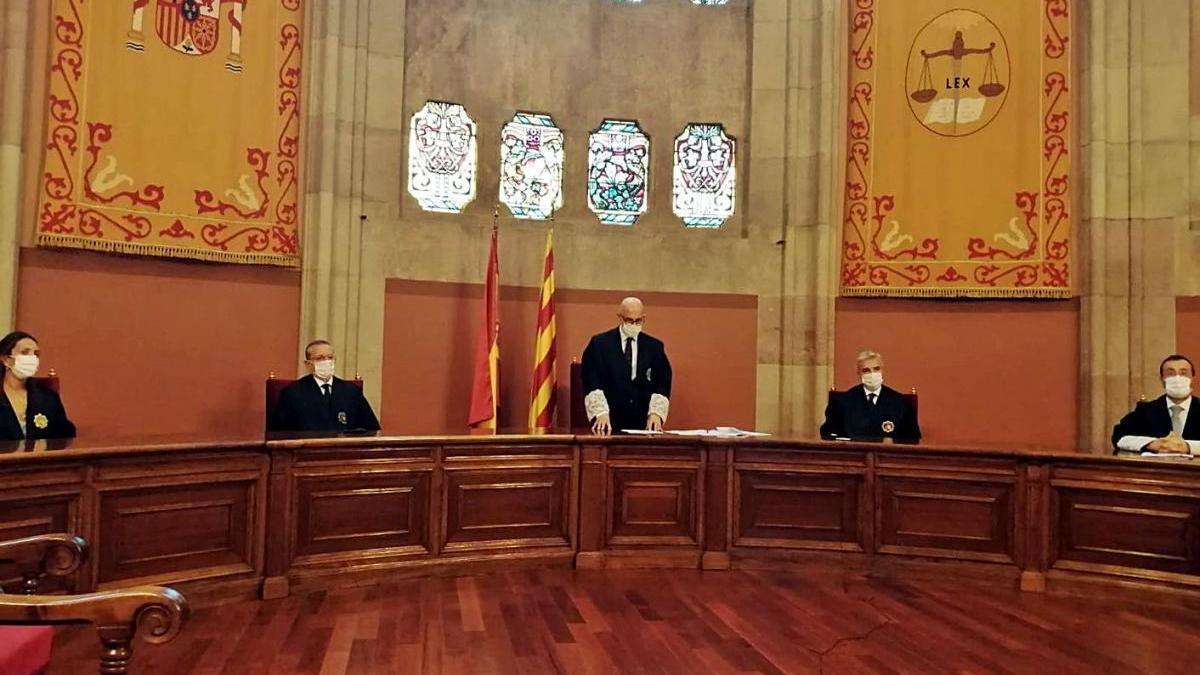 Membres de la Sala de Govern del TSJC en la jura o promesa del càrrec dels nous jutges