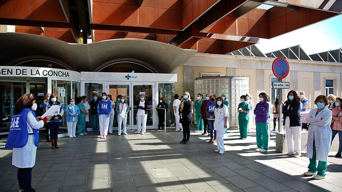 Concentración de auxiliares de enfermería. | Jose Luis Fernández