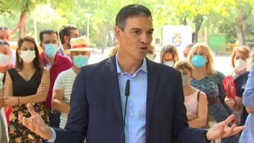 """Sánchez pide a la oposición que aparque la """"crispación"""" y apoye la primera reforma de pensiones"""