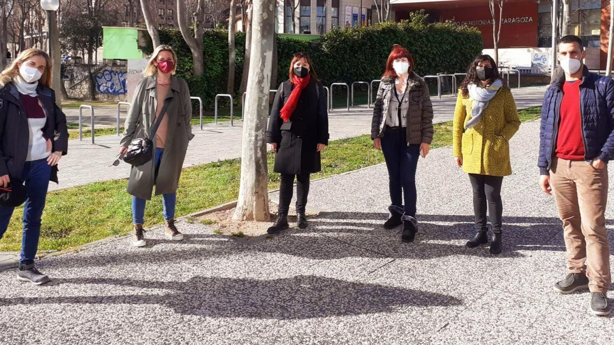 Representantes del colectivo de covid persistente en Aragón.
