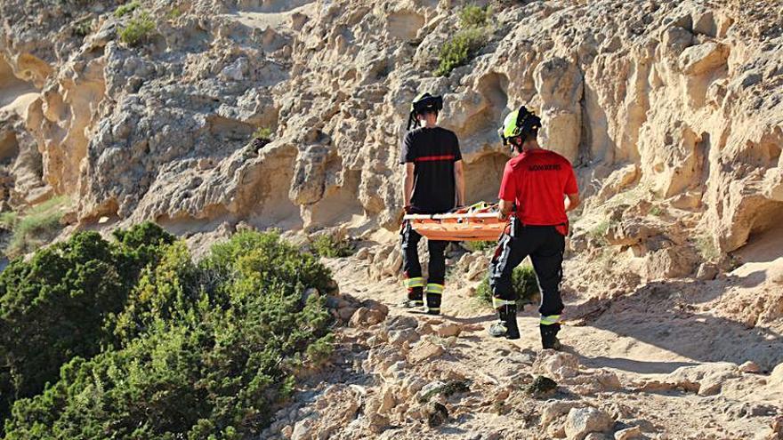 Recuperan un cadáver en el mar en una zona de difícil acceso de Formentera