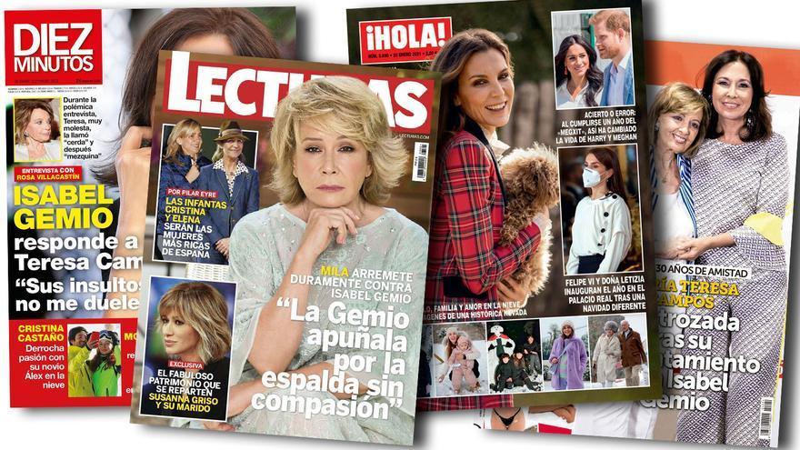 Campos y Gemio: guerra mediática de divas para estrenar el año