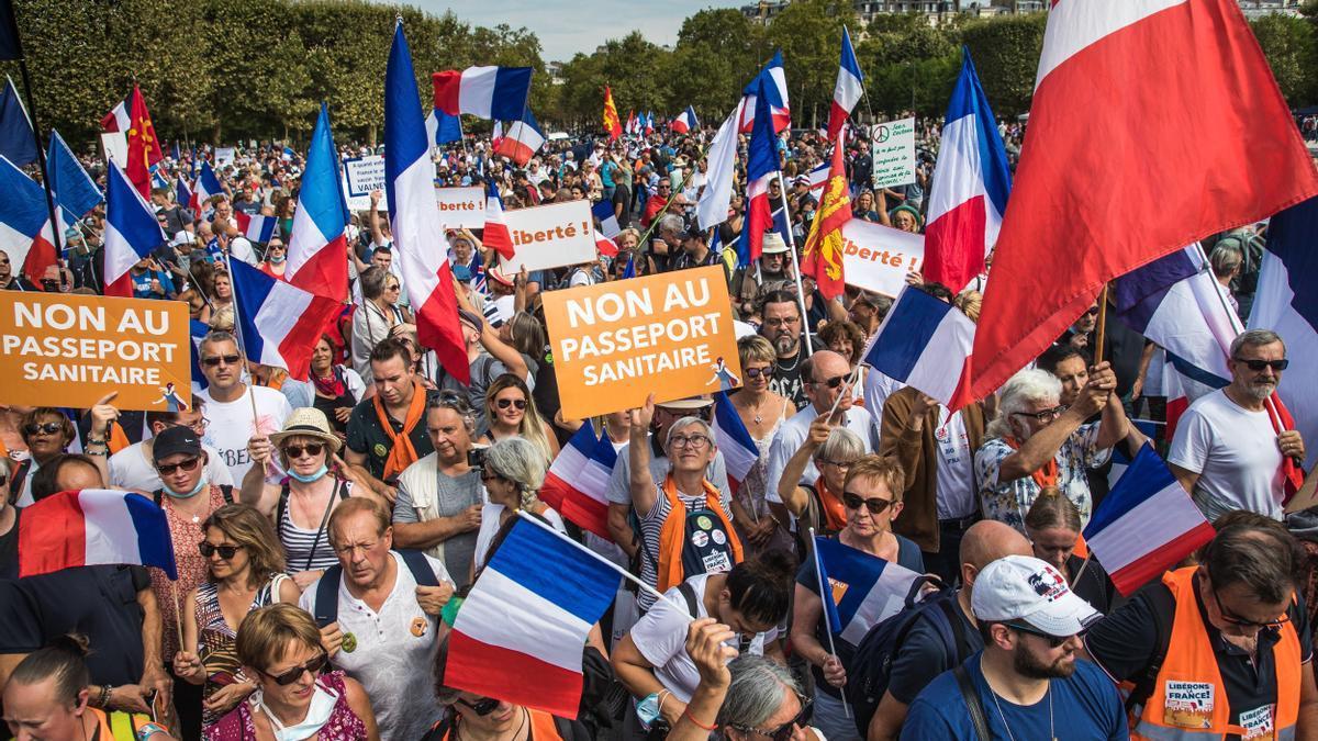 Una de las manifestaciones en París.