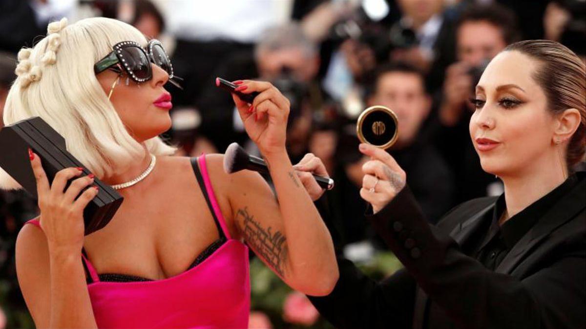Lady Gaga, a su llegada a la gala MET del 2019.