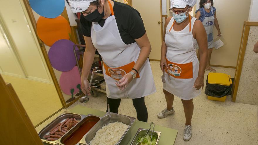 Los niños en cuarentena se podrán llevar el menú escolar a casa