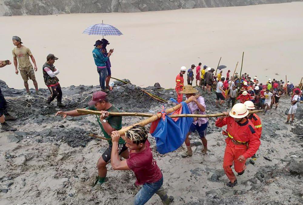 Accidente en una mina de jade en Birmania.