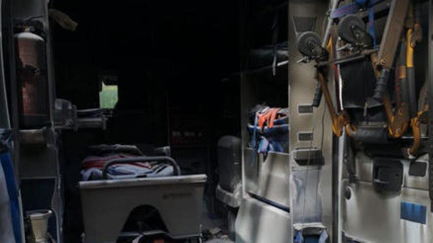 Roben una ambulància a Llagostera i apareix parcialment cremada a Caldes de Malavella