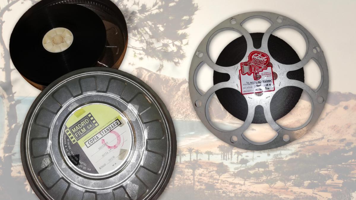 Las dos películas promocionales recuperadas por el Archivo Municipal de Benidorm, con la ayuda de la Filmoteca Valenciana.