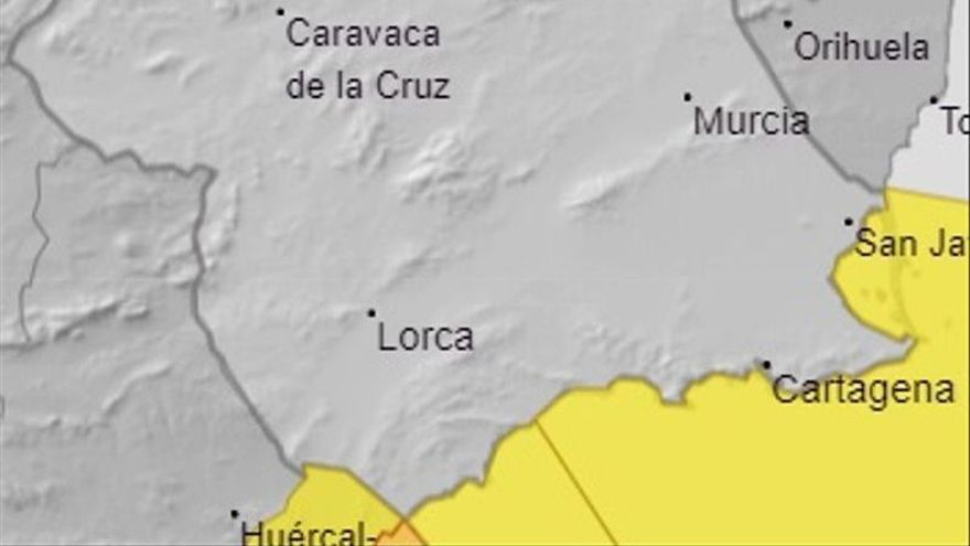 Aviso amarillo por un fuerte temporal en el litoral de la Región