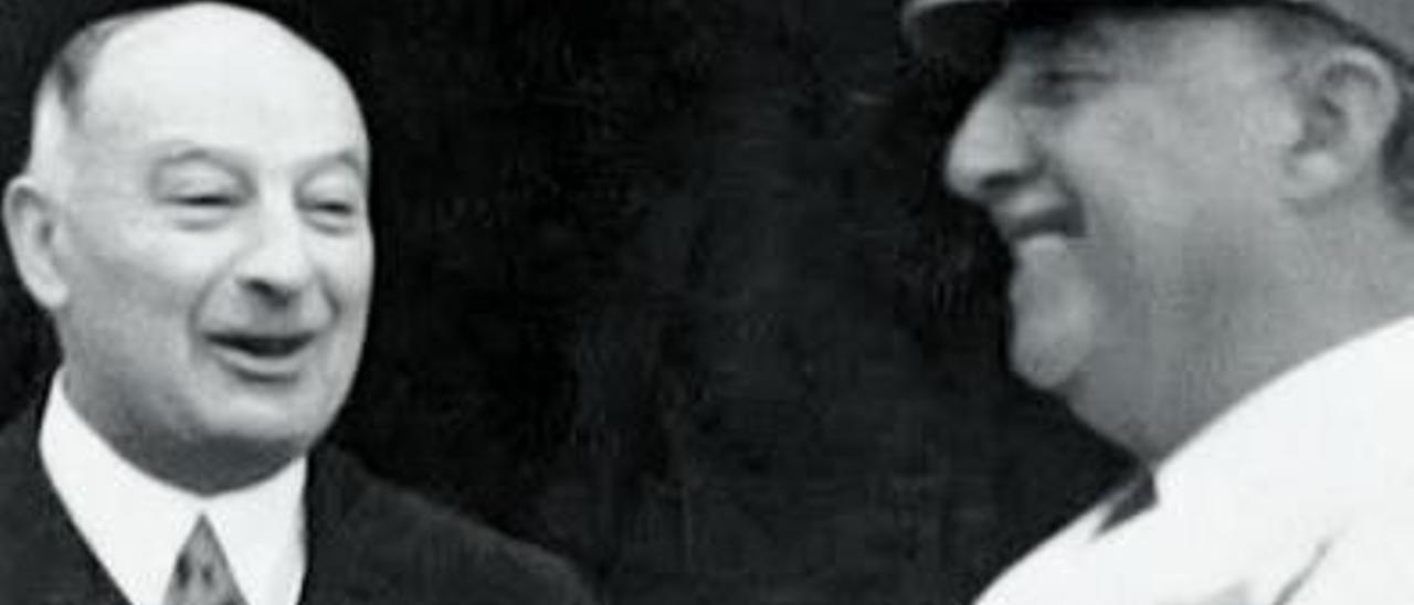 Franco y el banquero y empresario Pedro Barrié de la Maza.