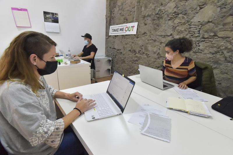 Teletrabajadores de coliving/coworking