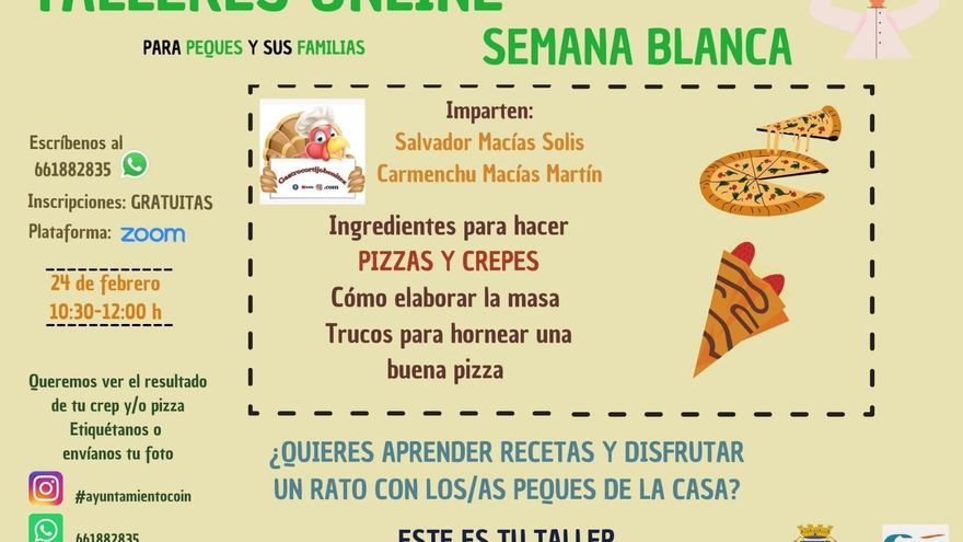 Taller online: Pizzas y crepes