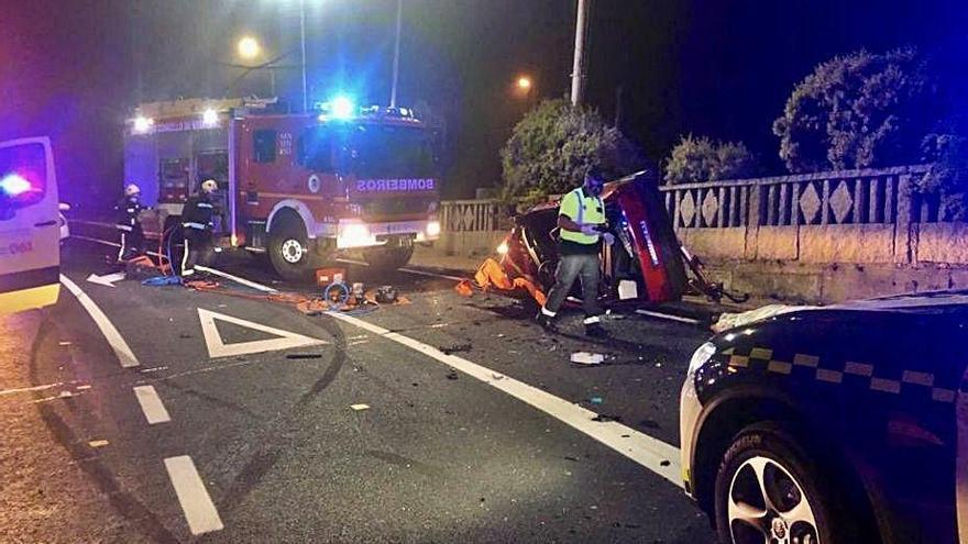 Fallece un joven de 24 años en un accidente en Sanxenxo al chocar contra otro vehículo