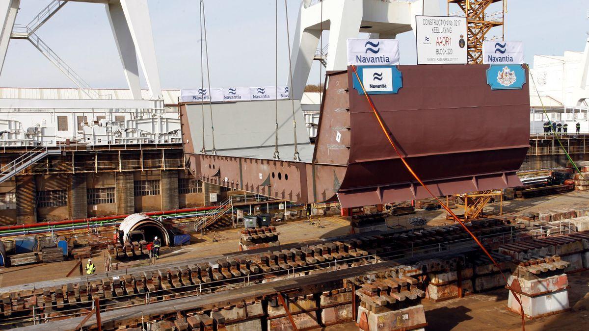 Vista de instalaciones del astillero de Navantia en Ferrol.