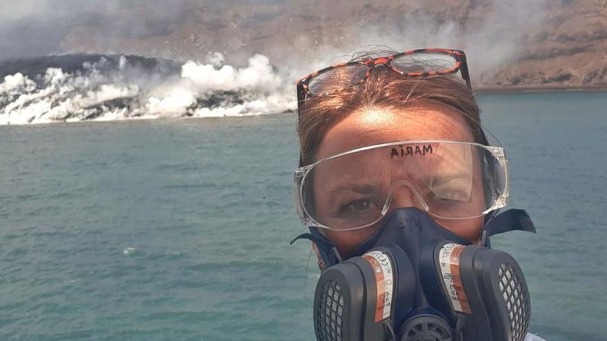 """María Gómez Ballesteros: """"La lava del volcán de La Palma elevó la temperatura del mar hasta siete grados"""""""