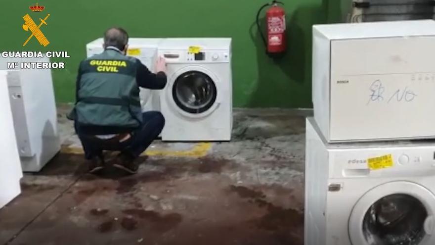 Desarticulada en Málaga una red dedicada a desviar residuos de electrodomésticos para reciclar